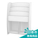 書櫃 收納【收納屋】小木偶四層二格收納櫃-白&DIY組合傢俱