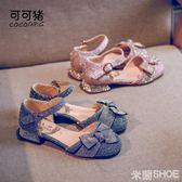 女童涼鞋 正韓夏季小高跟公主鞋女孩兒童水晶包頭中大童鞋 米蘭shoe