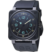 Bell & Ross經典飛行陶瓷機械錶 BR0392-IDC-CE/SRB