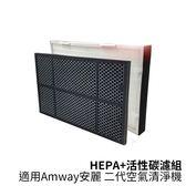 【GreenR3 HEPA+活性炭濾網組】適用安麗Amway二代 高效能HEPA濾網 活性碳 濾網 空氣 清淨機濾網