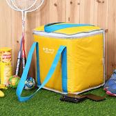 野餐包 大容量可肩背冰包野餐包 戶外冷藏保鮮包 大號外賣加厚保溫箱野餐包  晶彩生活 晶彩生活
