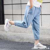 男童夏裝九分褲防蚊褲夏季新款兒童牛仔休閒褲薄款中大童褲子艾美時尚衣櫥
