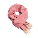 Alpaka Scarf 100% 30x200cm 極致魚骨紋系列 素面單色 羊駝毛 超輕量 圍巾(玫瑰紫紅)