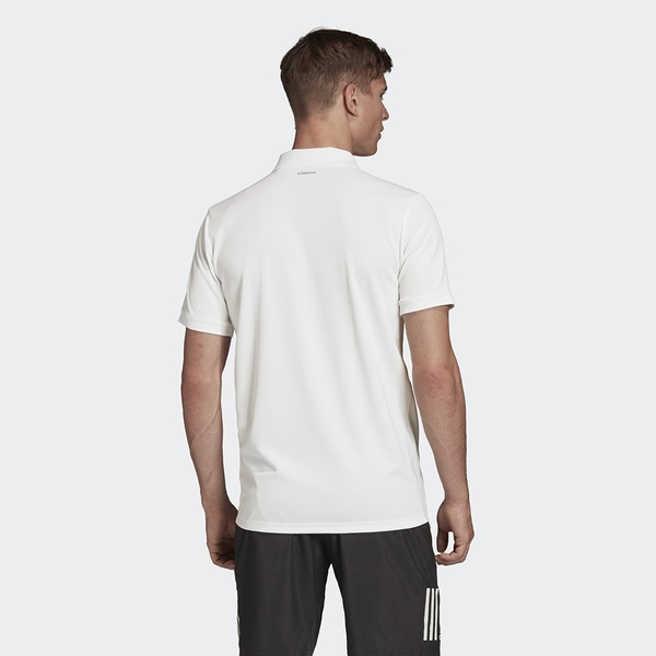 ADIDAS CLUB SOLID POLO 男裝 短袖 POLO衫 慢跑 休閒 透氣 排汗 基本 白【運動世界】FK0744