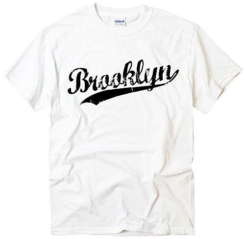 Brooklyn Script短袖T恤-2色 紐約布魯克林文字圖設計趣味幽默玩翻潮流時尚390