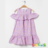 挖肩連身洋裝01淡紫-bossini女童