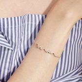 小麋人心跳頻率閃電折線幾何S925純銀手鍊創意個性學生禮物配飾女