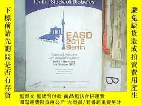 二手書博民逛書店THE罕見EUROPAN ASSOCIATION FOR THE STUDY OF DIABETES 歐洲糖尿病研