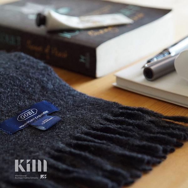 可傑 KIM Taiwan 內斂沈穩.黑灰『GOBI 100% 喀什米爾圍巾』原價3500 限時85折 $2975