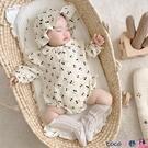 熱賣包屁衣 春夏季薄款包屁衣爬服純棉男女寶寶連體衣長袖公主嬰兒哈衣一周歲 coco