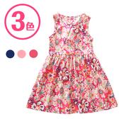 短袖洋裝 夏日碎花連身裙 女童 無袖 背心裙 女寶寶童裝 ZS30905 好娃娃