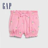 Gap 女嬰 棉質舒適童趣休閒短褲 580452-鳳梨圖案