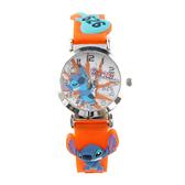 【Disney】史迪奇 造型橡膠兒童錶-活潑橘/LS-3K1119P-034OE/原廠授權享一年保固