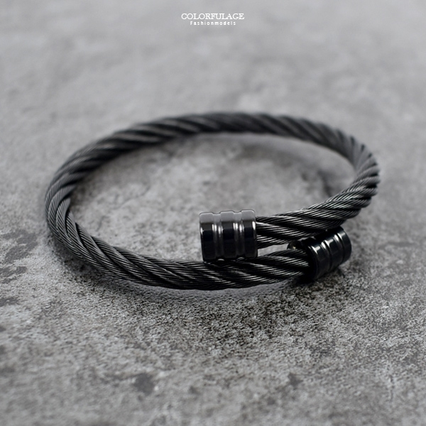 白鋼手環 極致黑鋼索NA505