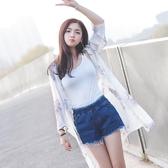 防曬衣防曬衣女夏季新款中長款仙氣雪紡衫上衣外套百搭開衫薄韓版潮麥吉良品