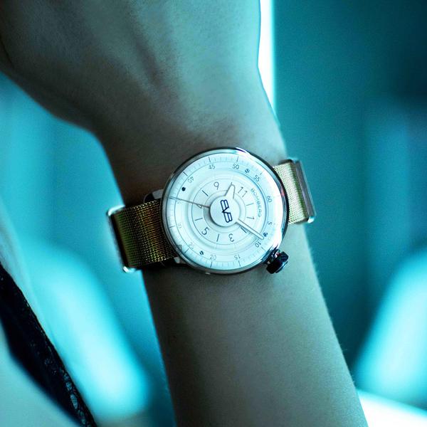 BOMBERG 炸彈錶 BB-01 米蘭帶女錶-銀x玫瑰金/38mm CT38H3PPK.07-2.9