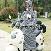 電動摩托車防曬衣長款女電車電瓶車擋風衣防曬帶帽防曬服 歐韓流行館