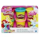 Play-doh培樂多黏土 迪士尼公主閃亮黏土6入 補充罐 TOYeGO 玩具e哥
