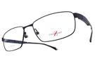 CHARMANT-Z 光學眼鏡 CZT19811 BL (霧藍) 鈦系列方格造型鏡腳 # 金橘眼鏡