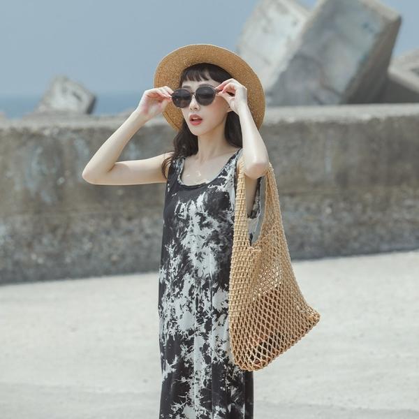 Queen Shop【01085410】渲染造型無袖長洋裝*現+預*