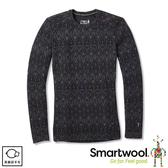 【SmartWool 美國 女 NTS 250印花圓領長袖衫《花紋黑》】 SW0NP226/保暖長袖/內層/衛生衣