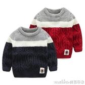寶寶毛衣秋冬男童套頭針織衫2019新款小童洋氣上衣兒童加厚毛線衣 美芭