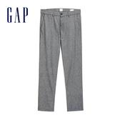 Gap男裝 棉質純色直筒休閒長褲 496230-深煙灰色