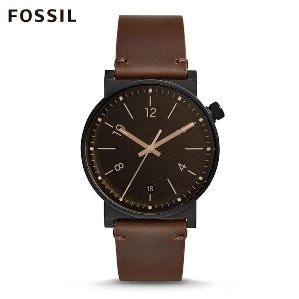 FOSSIL BARSTOW 棕色皮革手錶 男FS5552