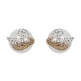 SWAROVSKI 施華洛世奇 漸層水晶天鵝造型珍珠耳環 5215037