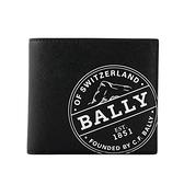 【BALLY】Brasai 塗層帆布徽標短夾(黑色) 6237366 170
