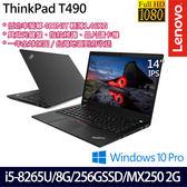 【ThinkPad】T490 20N2CTO5WW 14吋i5-8265U四核MX250 2G獨顯專業版商務筆電(一年保固)