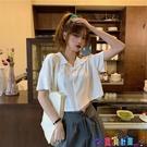 短袖POLO衫 polo衫短款短袖t恤女2021新款韓版寬鬆潮原宿風設計感露臍上衣寶貝計畫 上新