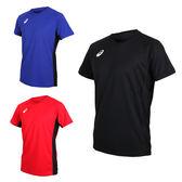 ASICS 男短袖排球練習T恤(免運 短T T恤 亞瑟士≡排汗專家≡