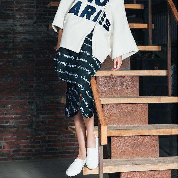 WHO CARES x Daniel Wong。天馬行空系列不規則造型裙(墨綠)