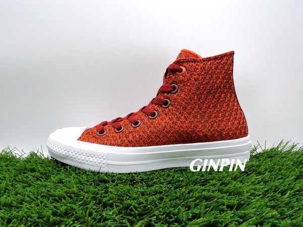 CONVERSE CHUCK TAYLOR ALL STAR II 紅 高筒 帆布 女款 NO.154019C