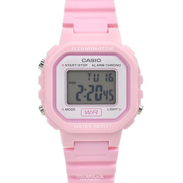 CASIO手錶 粉嫩方形電子錶NECA1