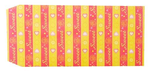 成昌 5號20k黃底愛心圖案貼心禮物袋(款式隨機出貨)- 36張 /束