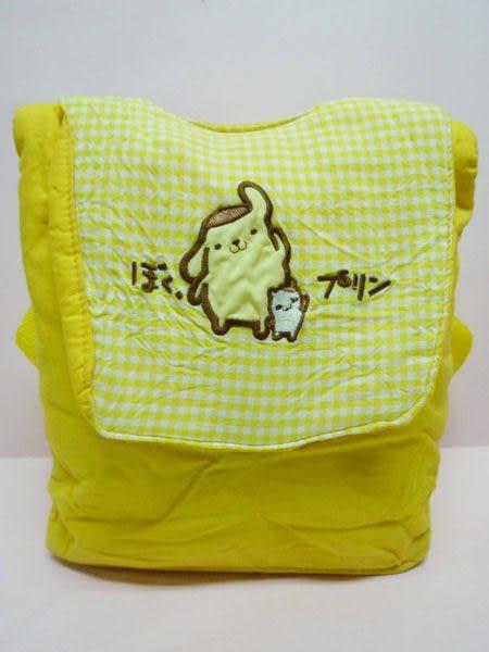 【震撼精品百貨】Pom Pom Purin 布丁狗~布面後背包『黃』