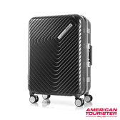 AT美國旅行者 28吋Esquino 鋁合金細框剎車雙輪行李箱(黑)