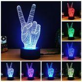 促銷3D七彩變色小夜燈USB介面觸摸開關LED台燈  小明同學