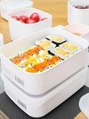 日本進口保鮮盒塑料密封盒食品級冰箱收納冷藏盒微波爐飯盒便當盒