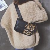 ins超火小包包女新款潮復古豹紋單肩包腰包百搭拼接斜挎小包