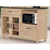 櫥櫃 餐櫃 MK-915-4 米拉斯4尺石面雙門收納櫃下座【大眾家居舘】