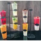 杯型展示架咖啡廳杯子陳列架鐵藝展示架飲料杯架奶茶店用具(55*26/@777-10765)