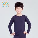 【WIWI】MIT溫灸刷毛圓領發熱衣(湛海藍 童70-150)