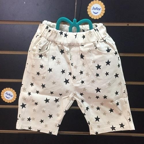 棒棒糖童裝(2806)夏男童鬆緊腰雙色星星彈力平織褲 5-15