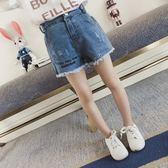 女童夏裝牛仔短褲外穿 中大童薄款正韓兒童熱褲女中童女孩短褲子 童趣潮品