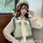 短款馬甲女秋裝2019新款韓版外穿坎肩流蘇背心小香風馬夾兩件套潮 安妮塔小舖
