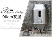 廣東三水永豐烤鴨爐90cm雙層帶表燃氣型燒鵝爐加厚款商用烤爐 MKS薇薇