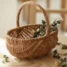 編織野餐籃子ins